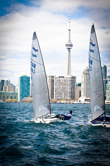 Training for the 2012 Olympics on Toronto Harbour