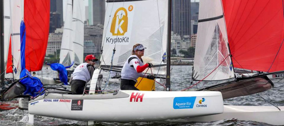 Luke Ramsay and Nikola Girke Racing the Olympic Mixed Multihull - Nacra 17