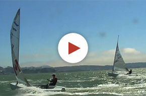 Finn Sailors Training on Windy San Francisco Bay